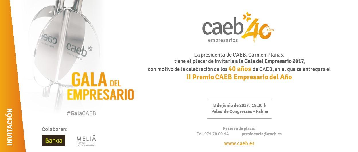 Tarjeta Papel Invitación Gala Empresario 2017 Caeb